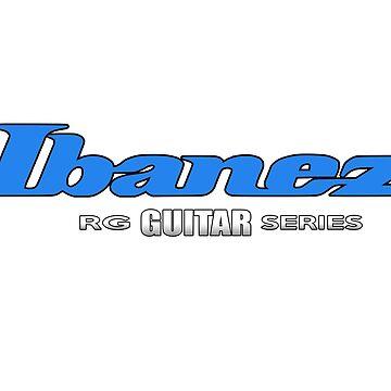 Ibanez Guitar RG Series Blue Edition by mugenjyaj