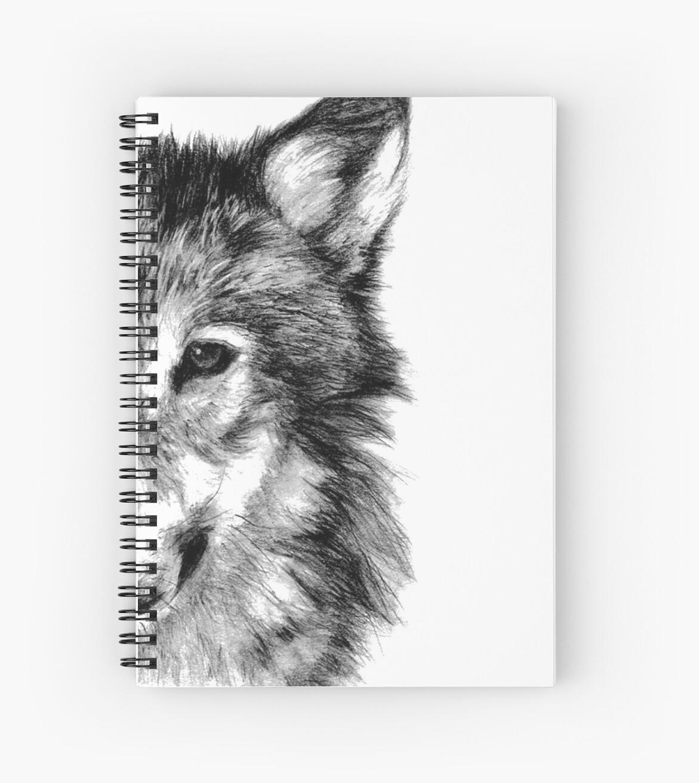 Cuadernos De Espiral Lobo Gris Dibujo Dibujo A Lápiz De Yousef