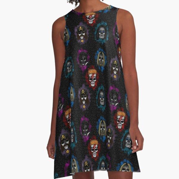 Errorface skull Icons  A-Line Dress
