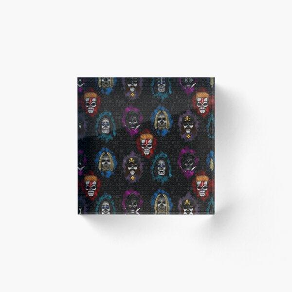 Errorface skull Icons  Acrylic Block
