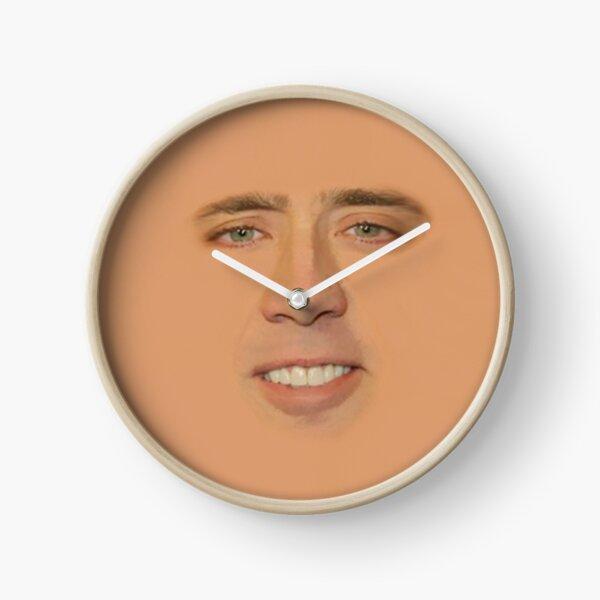 Nicolas Cage Full Face Clock