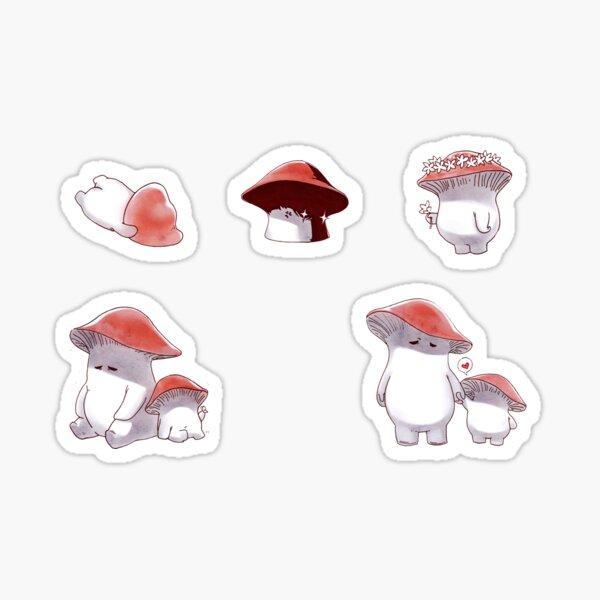 Mushroom People Sticker Set Sticker