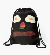 Bacon and Eggs Breakfast Face Drawstring Bag