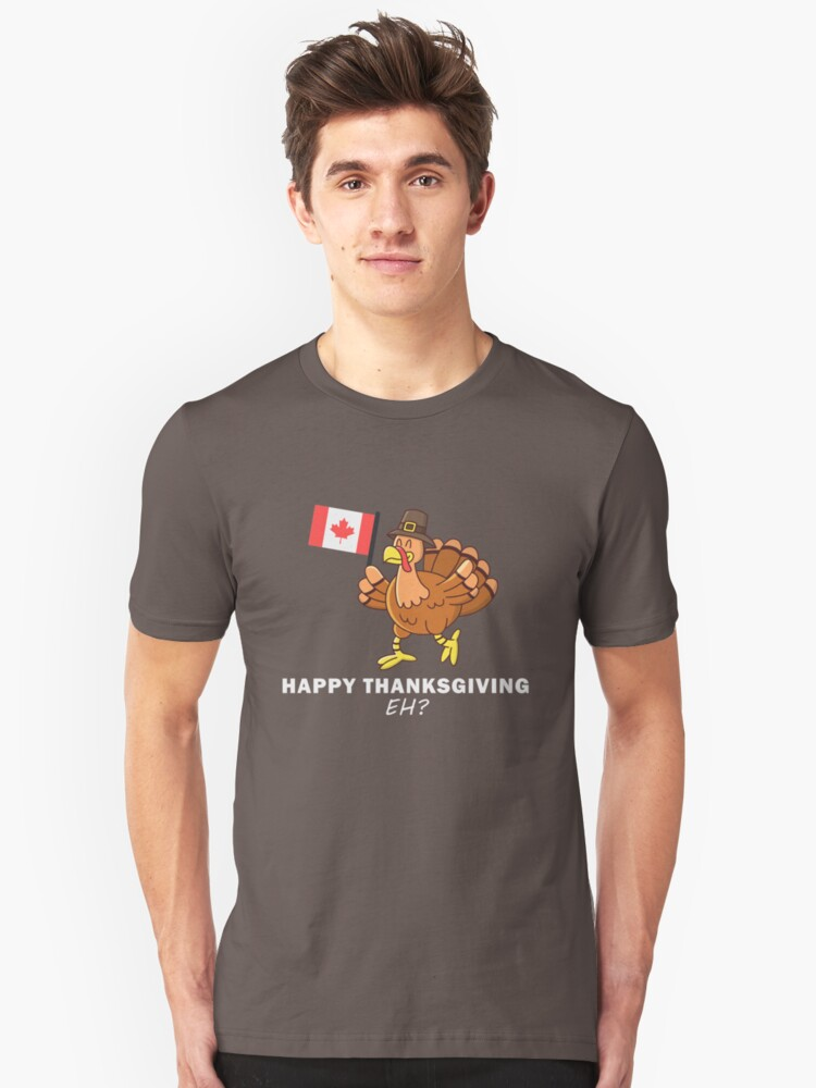 4824d6531 Funny Thanksgiving Turkey Day Gobble Wobble Canadian Canada Slim Fit T-Shirt