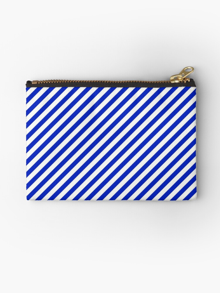 Small Cobalt Blue and White Candy Cane Stripe by podartist