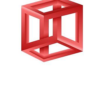 Magic Cube Optical Illusion Hallucination Trick of the Eye by manbird