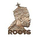 Roots Rastafari Menelik T-shirt by rastaseed