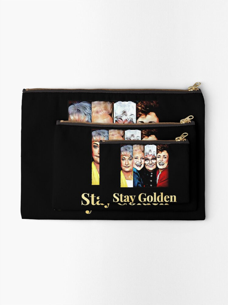 Alternate view of Stay Golden Zipper Pouch