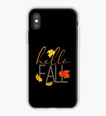 Hello Fall Hand Lettered Typography iPhone Case