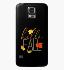 Hello Fall Hand Lettered Typography Case/Skin for Samsung Galaxy