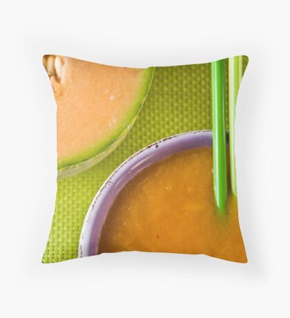 Melon and Winter Squash Soup With Chili Sting Throw Pillow