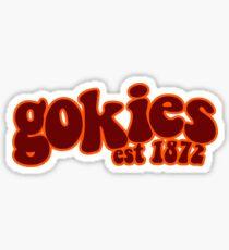 Gokies Virginia Tech Groovy Sticker Sticker