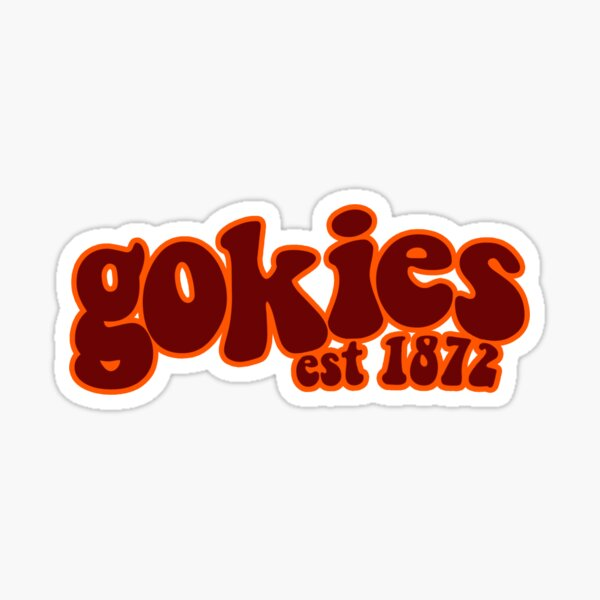 Gokies Virginia Tech Groovy Sticker Sticker