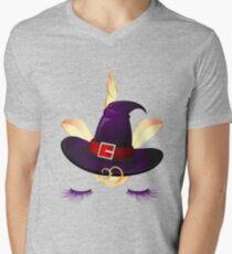 Cute Little Unicorn Witch  Men's V-Neck T-Shirt