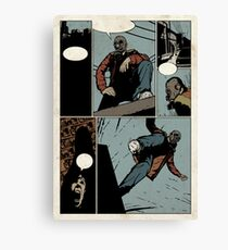 Unlettered Comic Page Canvas Print