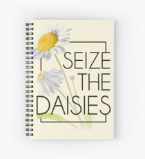 Seize The Daisies Spiral Notebook