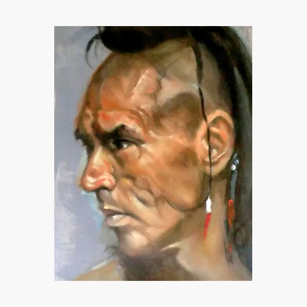 Wes Studi as Magua In The Last Of The Mohicans Photographic Print