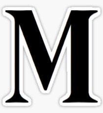 LETTER M STICKER Sticker