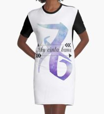 Aku Cinta Kamu  Graphic T-Shirt Dress