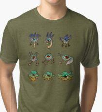 Birds Eyes, Frogs Eyes, Fishes Eyes Tri-blend T-Shirt