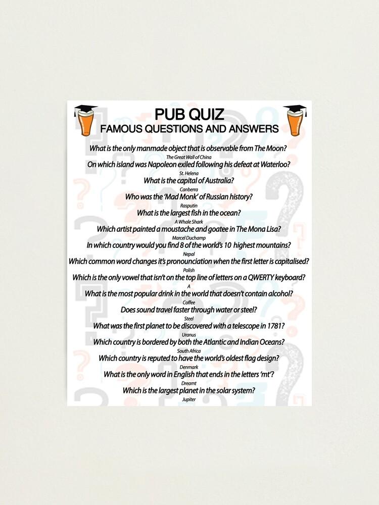 Quizfragen allgemeine 30 pfiffige