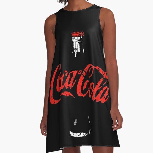 Coca Cola-Retro Poster-Eroded A-Line Dress