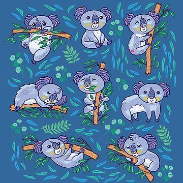 koalas in the eucalyptus forest by PenguinHouse
