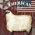 American Wool Folk Art Sign by mindydidit