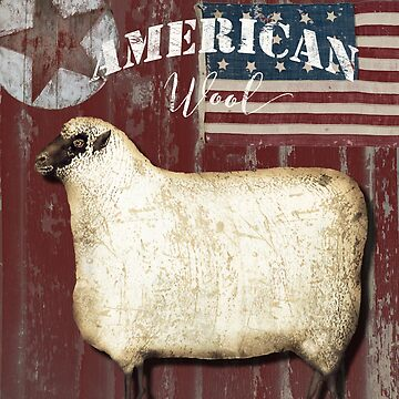 American Wool Folk Art Sign by mindydidit