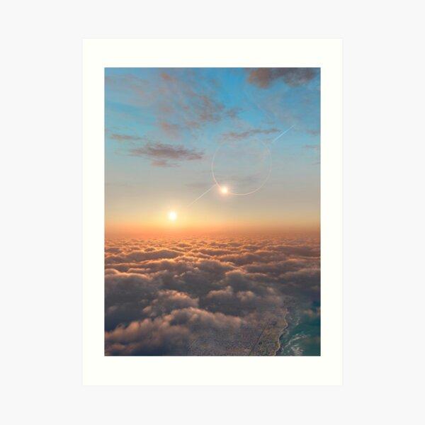 Planet of Kepler 35 Art Print