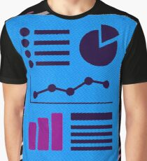 Info infographic Eighties Retro Violet and Purple Graphic T-Shirt
