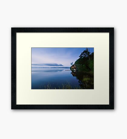 Misty Ullswater Boathouse - Cumbria Framed Print
