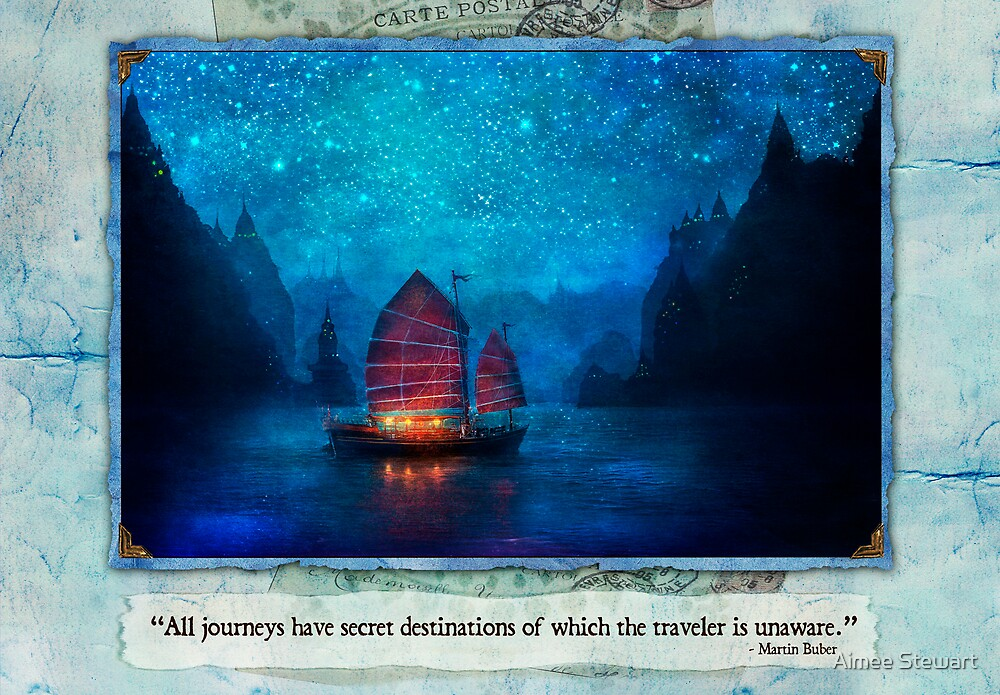 The Dream Traveler - January card by Aimee Stewart