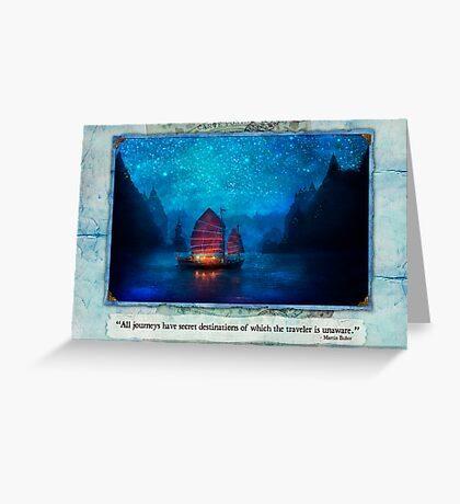 The Dream Traveler - January card Greeting Card