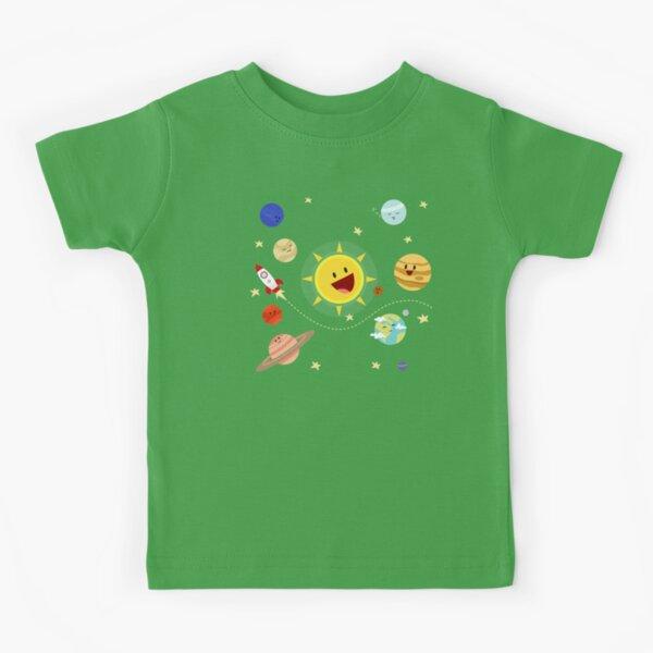 Kids Solar System P2 Kids T-Shirt