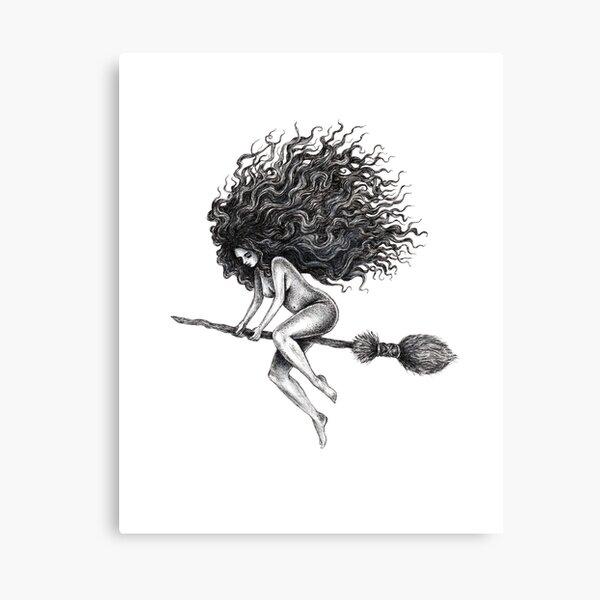 Broom Rider Canvas Print