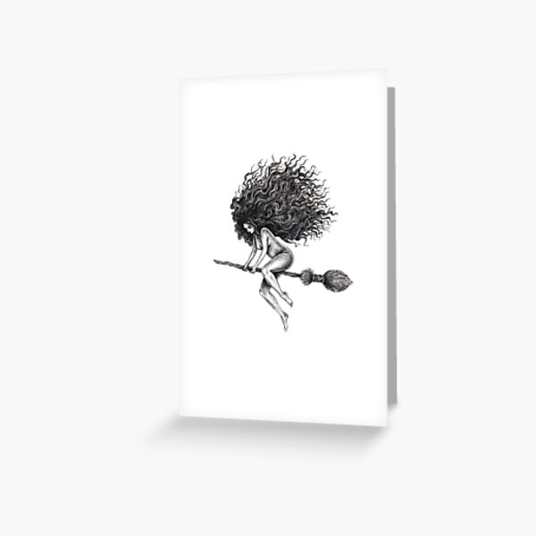 Broom Rider Greeting Card