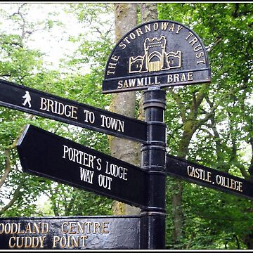 Signpost in English, Stornoway, Isle of Lewis, Scotland by BlueMoonRose
