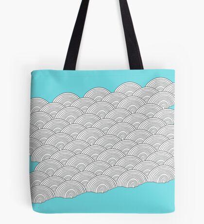 White Clouds Blue Sky Tote Bag