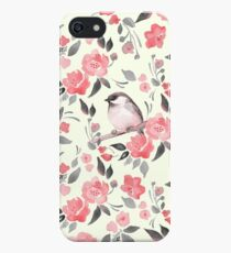 Watercolor floral background with cute bird /2 iPhone SE/5s/5 Case