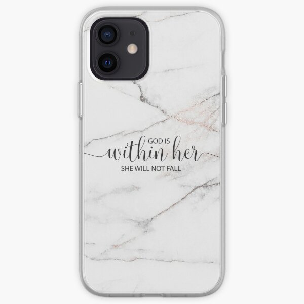God is within her she will not fall - Marble iPhone Soft Case