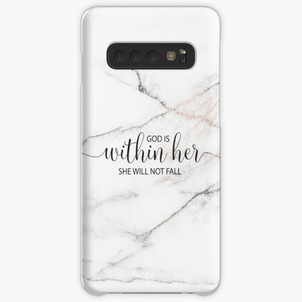 God is within her she will not fall - Marble Samsung Galaxy Snap Case