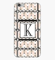 1920s Pink Champagne Deco Monogram letter K iPhone Case