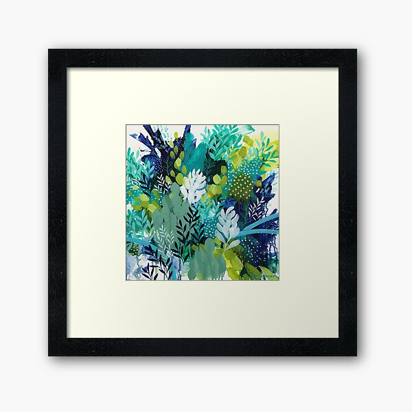 Abundant Foliage by Clair Bremner Framed Art Print