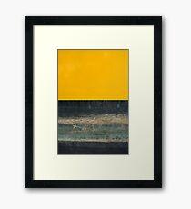 Yellow on Blue Framed Print