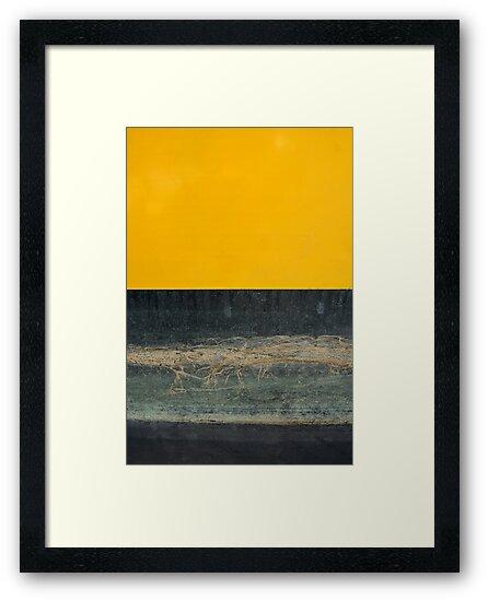 Yellow on Blue by Alixzandra