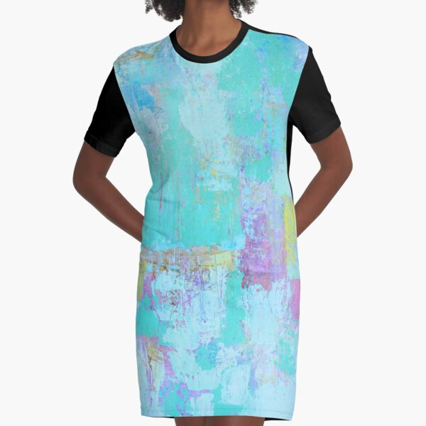 Abstract Modern Blue products Graphic T-Shirt Dress
