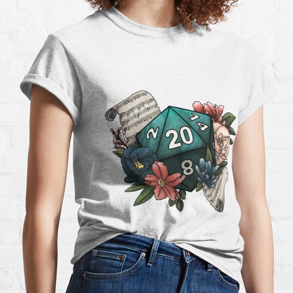 Bard Class D20 - Tabletop Gaming Dice Classic T-Shirt