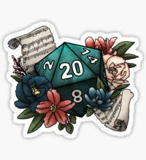 Bard Class D20 - Tabletop Gaming Dice Sticker