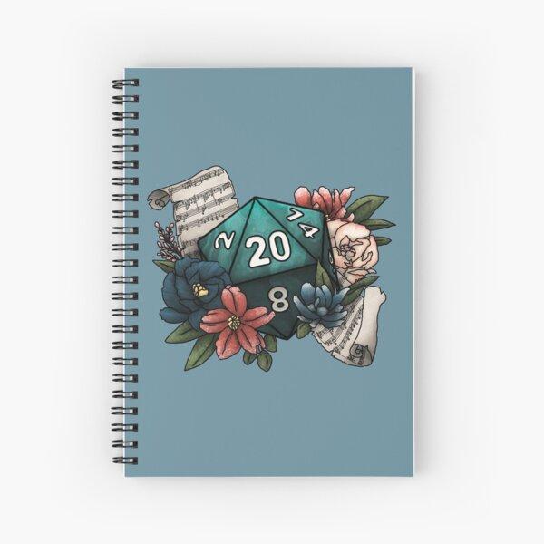 Bard Class D20 - Tabletop Gaming Dice Spiral Notebook